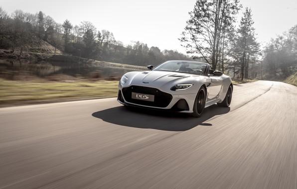 Picture machine, trees, Aston Martin, DBS, Superleggera, Volante
