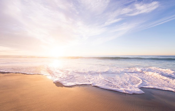 Picture sand, sea, wave, beach, summer, the sky, water, the sun, joy, heat, the ocean, stay, …