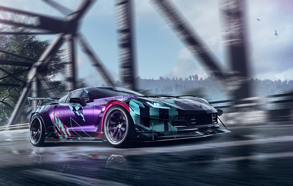 Picture Auto, Corvette, Chevrolet, Machine, Tuning, NFS, Need for Speed, Game, Heat, Sports car, Chevrolet Corvette …