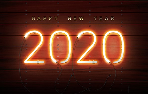 Picture new year, neon, happy new year, new year 2020