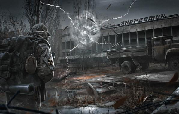 Picture the city, Stalker, anomaly, Pripyat, Stalker 2, ZIL, energetic, PAVEL BOND