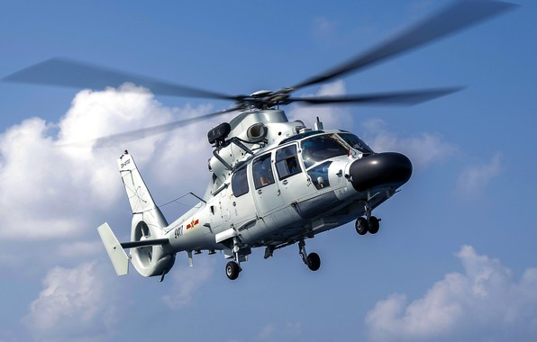 Picture sky, helicopter, antisubmarine, Chinese Navy, Z-9D