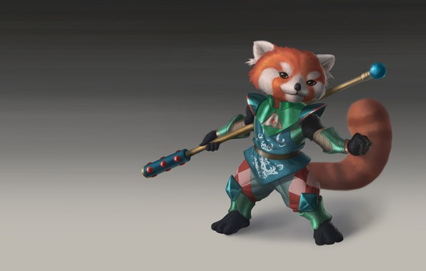 Picture armor, warrior, art, children's. red Panda, Good Boy Bimba, JESSE FLORES