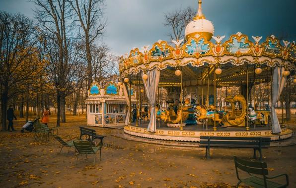 Picture Paris, France, Carousel
