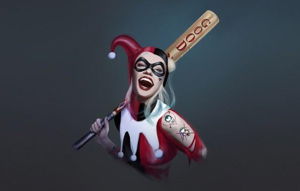 Picture Minimalism, Smile, Bit, Art, Harley Quinn, DC Comics, Harley Quinn, Comic Art, DC Art, by …