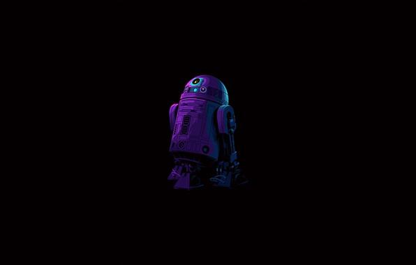 Picture Star Wars, fantasy, robot, minimalism, science fiction, sci-fi, movie, artist, digital art, film, artwork, black …