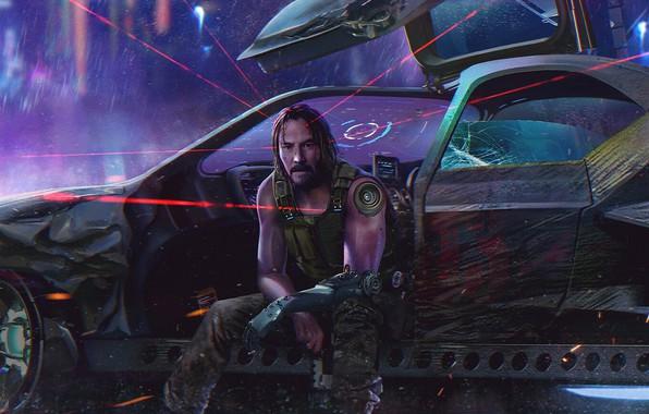 Picture Keanu Reeves, CD Projekt RED, Cyberpunk 2077, Cyberpunk 2077