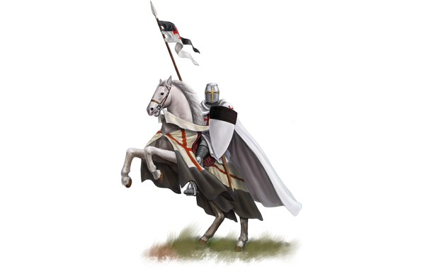 Picture sword, armor, weapon, just, man, ken, blade, flag, horse, shield, justice, God, knight, pearls, spear, …
