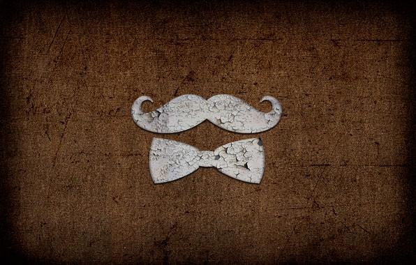 Picture Butterfly, Mustache, Metal, Texture, Texture, Rust, Patina, Mustache Gentleman