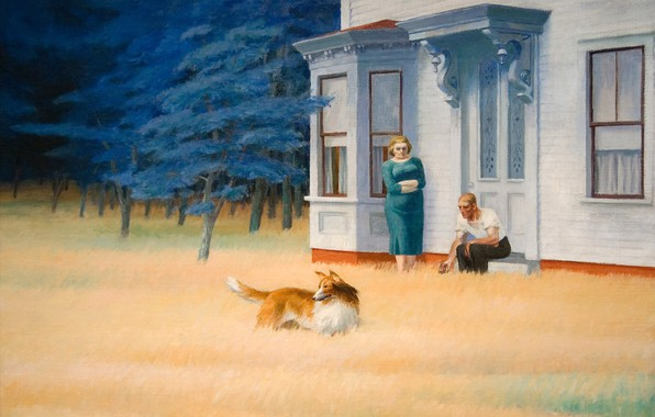 Picture 1939, Edward Hopper, Cape Cod Evening