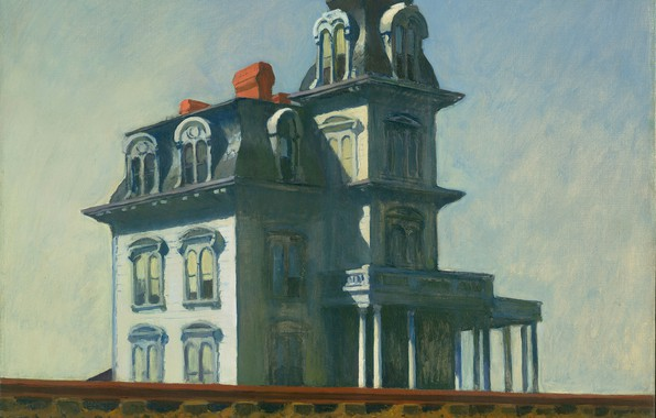 Picture Edward Hopper, 1925, House by the Railroad