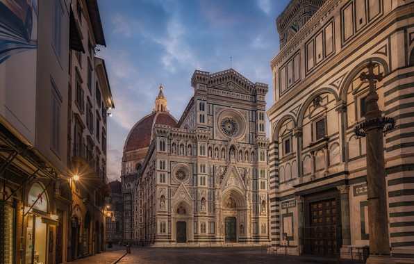 Picture street, building, Italy, Florence