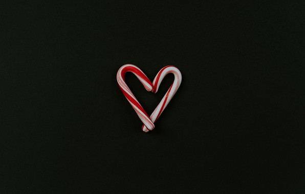 Picture love, background, heart, minimalism, lollipops