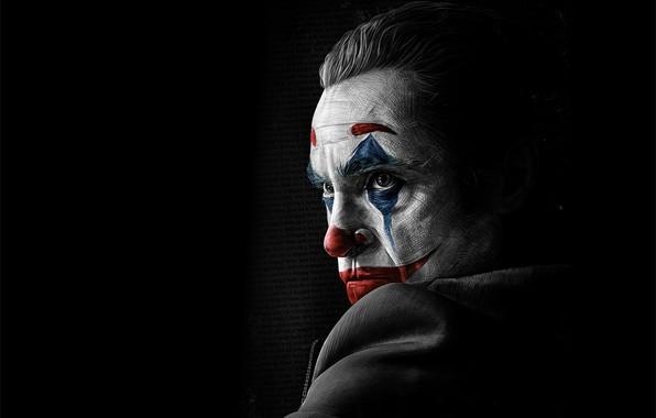 Picture figure, paint, art, Joker, art, Joker, Joaquin Phoenix, Joaquin Phoenix, 2019