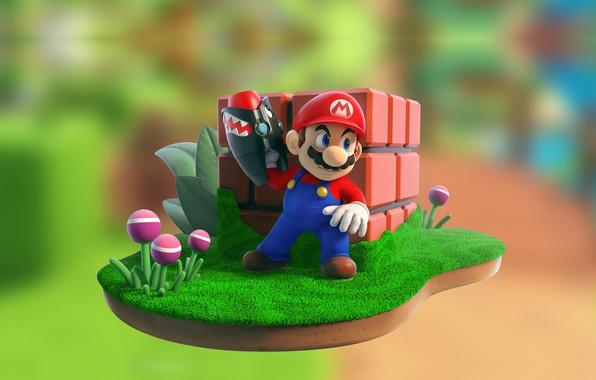 Picture the game, Mario, children's, M + R Illustration, 3D artist, Future Games of London, Thomas …