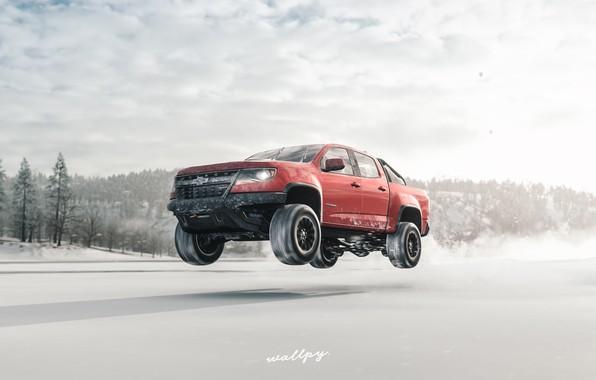 Picture Chevrolet, Microsoft, 2018, Colorado, game art, Forza Horizon 4, by Wallpy