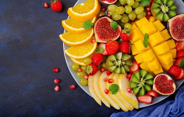 Picture berries, orange, colorful, kiwi, strawberry, grapes, summer, fruit, mango, fresh, wood, sweet, strawberry, fruits, berries, …