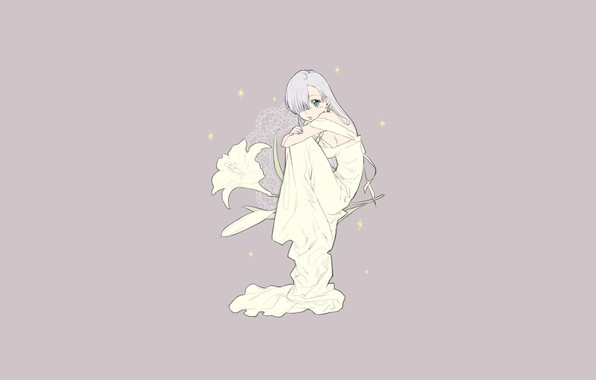 Picture girl, background, Lily, anime, Elizabeth, The seven deadly sins, Nanatsu No Taizai