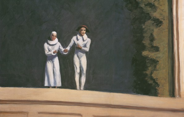 Picture Edward Hopper, 1965, Two Comedians