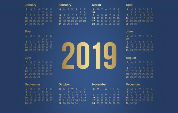 Wallpaper Minimalism, Background, Background, Calendar, A month, Minimalism, 2019, The year is 2019, Calendar 2019, Months