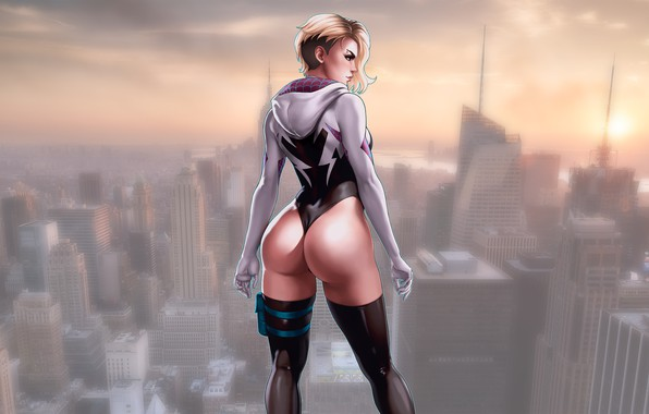 Picture Girls, Marvel, Comics, Gwen Stacy, Comic, Spider Gwen, superheroines