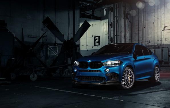 Picture BMW, Blue, X6M, Vossen, Sight, F86