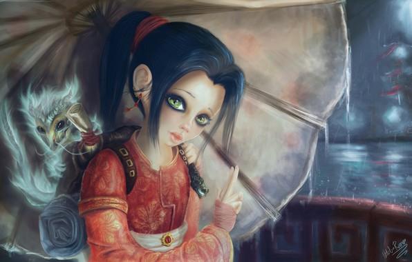 Picture fantasy, art, dragon, children's, HUMAN LILI, Natalia Romero Nuñez