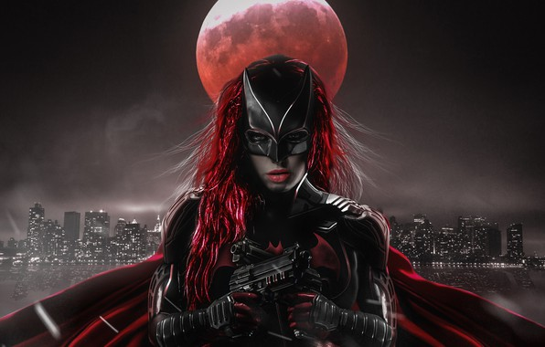 Picture Gun, The moon, The series, Woman, Batwoman, Superheroes