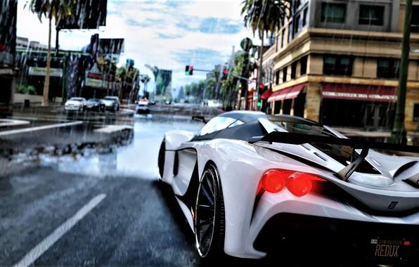 Picture Auto, The game, Rain, Art, Sports car, GTA V, Render, Grand Theft Auto V