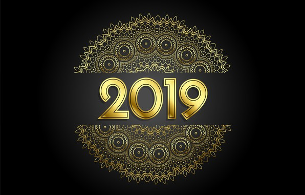 Picture patterns, New year, 2019