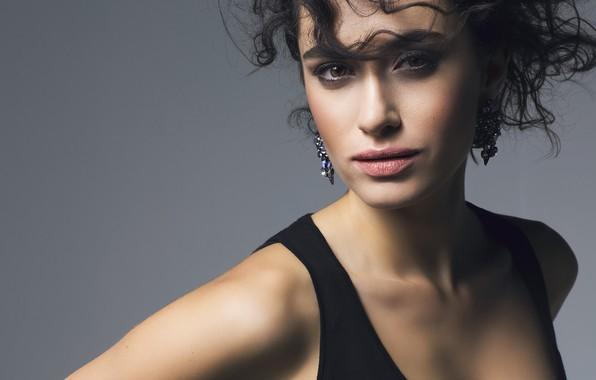 Picture look, girl, face, earrings, Hande Dogandemir