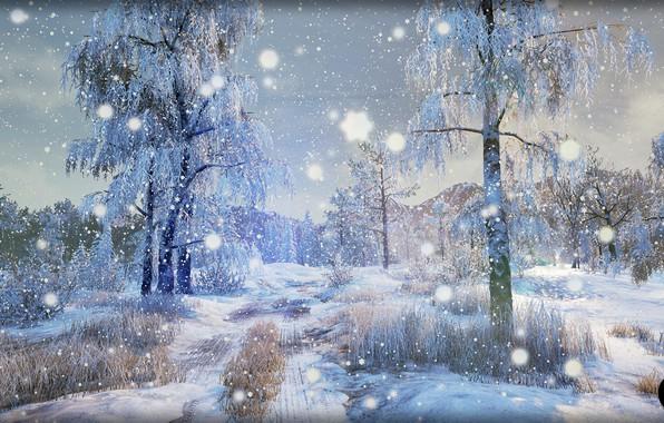 Picture winter, nature, art, Winter Nature [UE4], SilverTM .