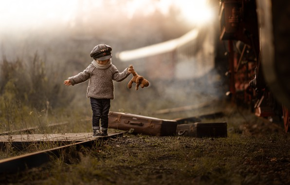 Picture train, railroad, child