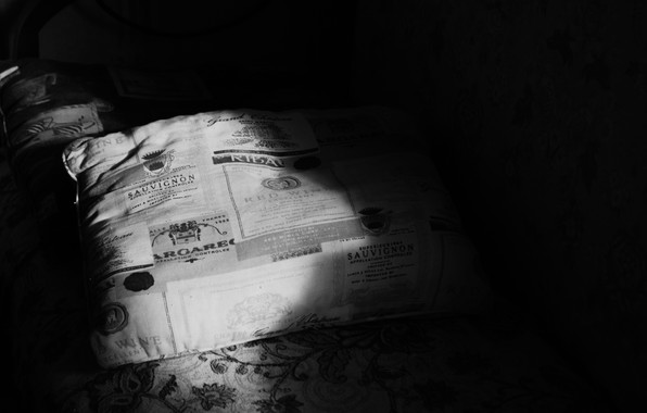 Picture light, night, sofa, lantern, pillow