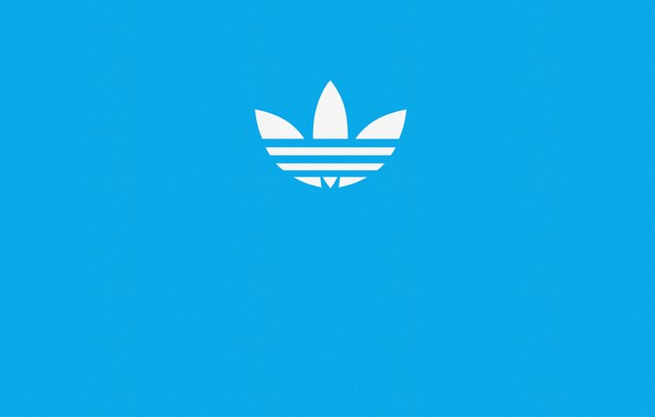 Picture blue, blue, sign, Wallpaper, sport, logo, logo, logo, Adidas, adidas, firm, blue background, blue, blue …