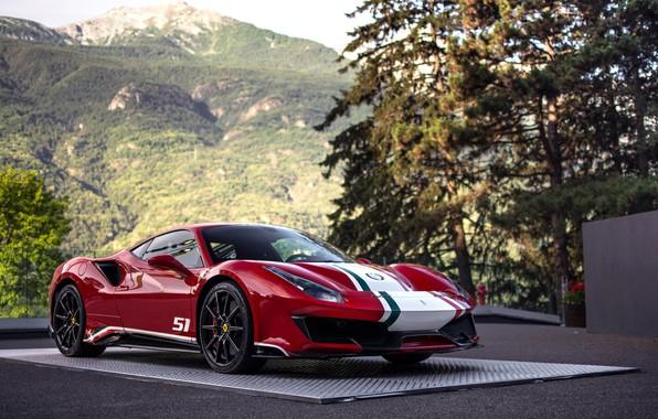 Picture Ferrari, supercar, 2018, 488, Pista, The Ferrari Drivers