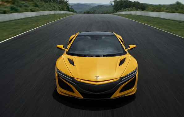Picture yellow, coupe, Honda, track, Acura, NSX, 2020