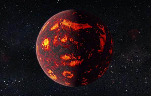 Picture photo, fire, planet, art, lava