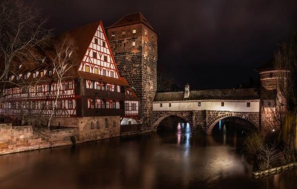 Picture night, the city, architecture