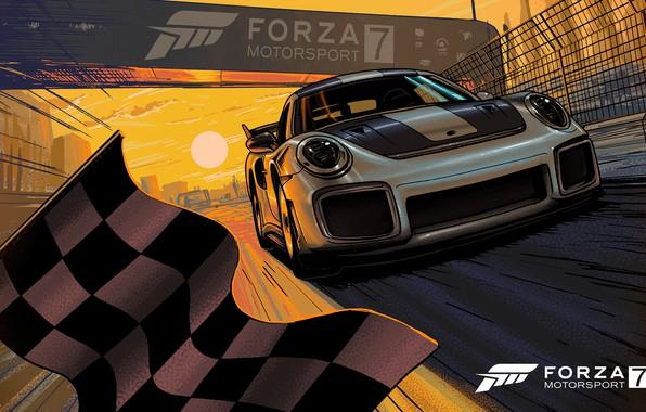 Picture 911, Porsche, Microsoft, game, Art, Artwork, Forza Motorsport, Forza Motorsport 7