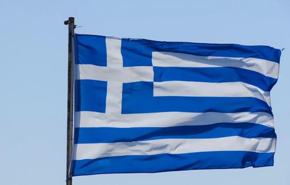 Picture cross, Greece, flag, cross, Greece, fon, flag, greece, Greece, the flagpole