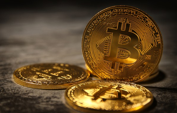 Picture money, coins, bokeh, closeup, Bitcoin, bitcoin