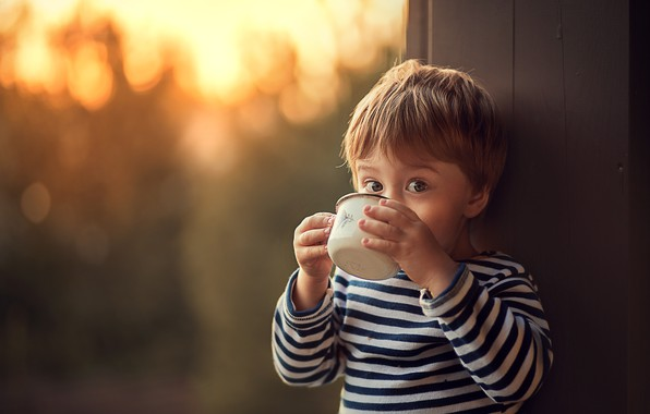 Picture look, boy, baby, mug, child, vest, bokeh, Marianne Smolin