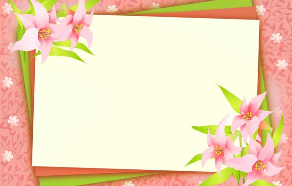 Picture postcard, template, blank