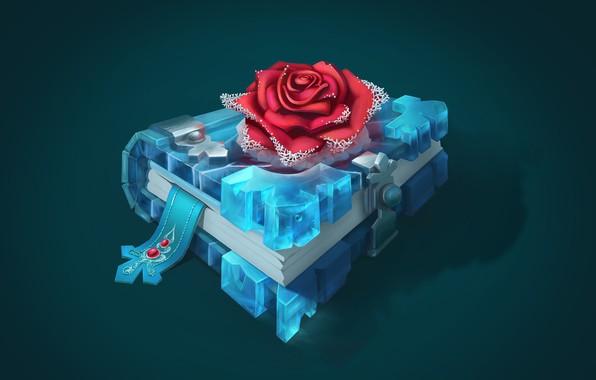 Picture rose, ice, Book of the Snow Queen, art book, Olga Gutsalo, Smirnovsсhool