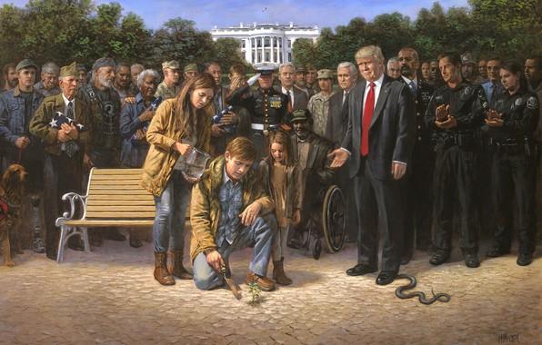 Picture veteran, Washington, presidents, USA, Capitol, The white house, Donald Trump, Trump, Jon McNaughton 