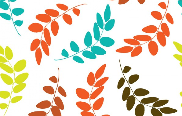 Picture white, leaves, background, colors, Leaf, Pattern