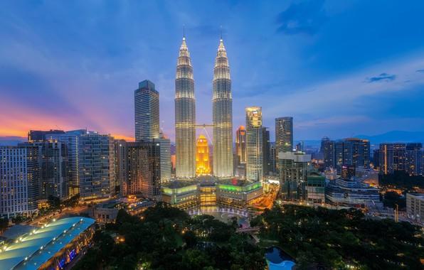 Picture the city, building, Malaysia, Kuala Lumpur, Kuala lumpur city