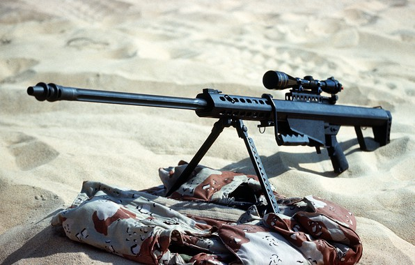 Picture weapons, war, sight, rifle, Barret
