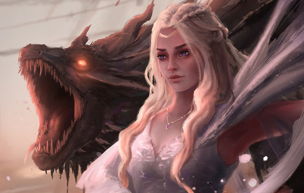 Picture dragon, fantasy, art, fragment, Game Of Thrones, Game of Thrones, Daenerys, Mother of Dragons, Gavin …